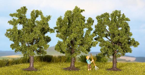 Noch 25510 - Fruit Trees, green, 3 pcs., 4.5 cm high