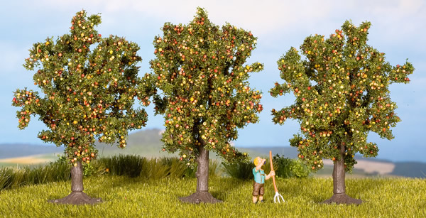 Noch 25513 - Apple Trees, 3 pcs., 4.5 cm high