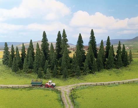 Noch 26326 - Model Spruce Trees, 50 pcs., 6 - 15 cm high