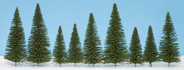 Noch 26330 - Fir Trees with Planting Pin, 25 pcs., 6 - 15 cm