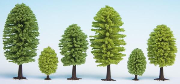 Noch 26801 - Deciduous Trees, 25 pieces, 5 - 9 cm high
