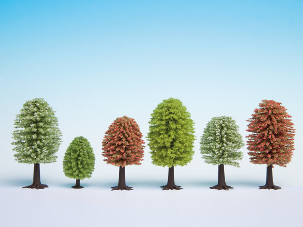 Noch 26806 - Spring Trees, 25 pieces, 5 - 9 cm high