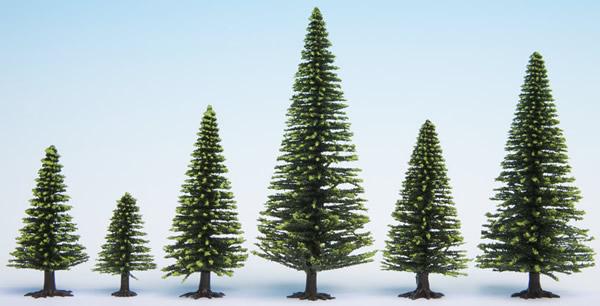 Noch 26825 - Model Spruce Trees, 25 pieces, 5 - 14 cm high