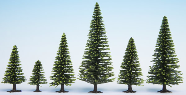 Noch 26826 - Model Spruce Trees, 50 pieces, 5 - 14 cm high