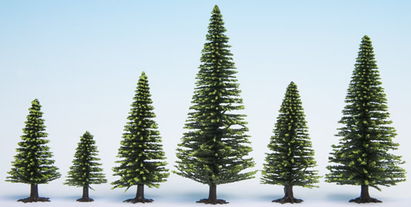 Noch 26827 - Model Spruce Trees, extra high, 10 pieces,