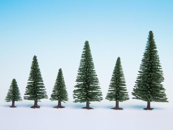 Noch 26921 - Model Fir Trees, 5 pieces, 5 - 9 cm high