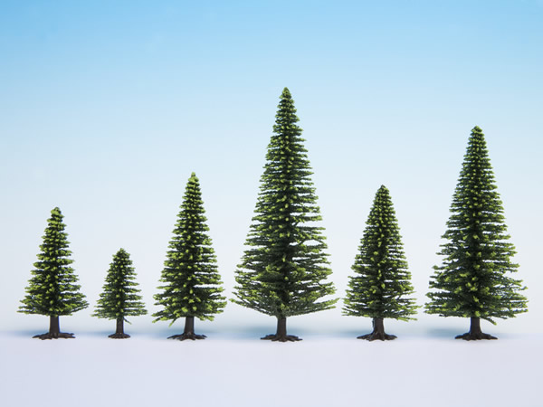 Noch 26926 - Model Spruce Trees, 5 pieces, 5 - 9 cm high