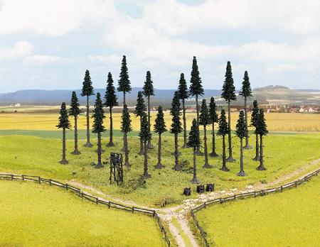 Noch 32520 - Model Fir Trees, 25 pcs., 4 - 10 cm high