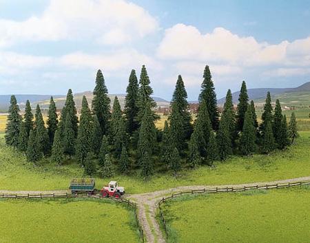 Noch 32521 - Model Fir Trees, 50 pcs., 4 - 10 cm high
