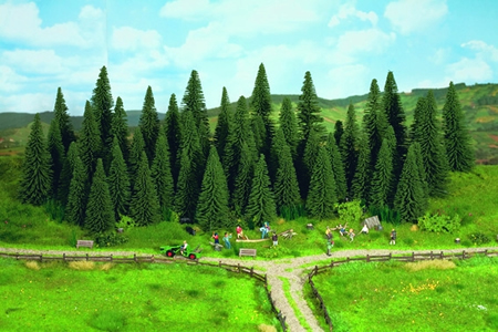 Noch 32530 - Fir Trees with Planting  Pin, 25 pcs., 4 - 10 cm
