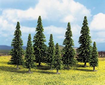 Noch 32625 - Model Spruce Trees, 10 pcs., 4 - 10 cm high