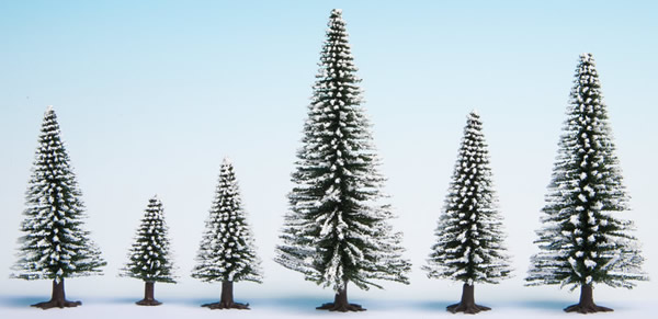 Noch 32828 - Snow Fir Trees, 25 pieces, 3.5 - 9 cm high
