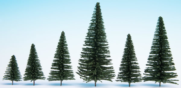 Noch 32830 - Fir Trees with Planting Pin, 25 pieces,
