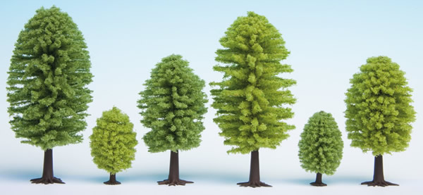 Noch 32901 - Deciduous Trees, 10 pieces, 3.5 - 5 cm high