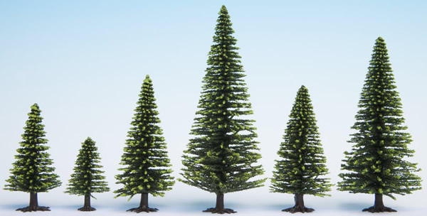 Noch 32925 - Model Spruce Trees, 10 pieces, 3.5 - 9 cm high