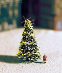Noch 33910 - White Christmas Tree, illluminated