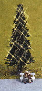 Noch 33911 - Green Christmas Tree, illuminated
