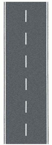 Noch 34203 - Federal Road, gray, 100 x 4 cm