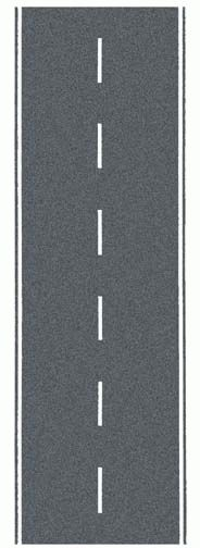 Noch 34203 - Federal Road, gray, 100 x 4 cm