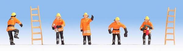 Noch 36022 - Fire Brigade (orange protective clothes)
