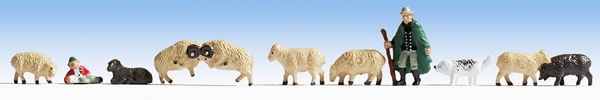 Noch 36750 - Shepherd and Sheep