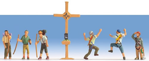 Noch 36874 - Mountain Hikers with Cross