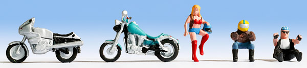 Noch 36901 - Motorcycles and Riders