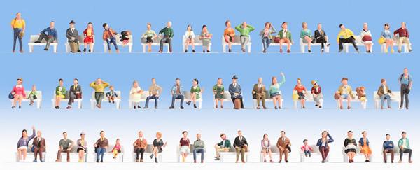 Noch 37071 - Mega Economy Figures Set Sitting People