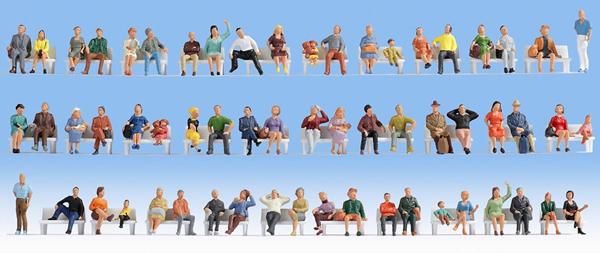 Noch 38402 - Mega Economy Set Sitting People