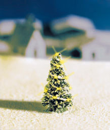 Noch 43810 - White Christmas Tree, illluminated