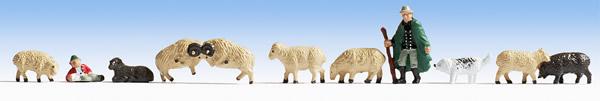 Noch 45750 - Shepherd and Sheep