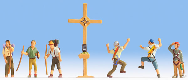 Noch 45874 - Mountain Hikers with Cross