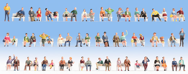 Noch 46071 - Mega Economy Figures Set Sitting People