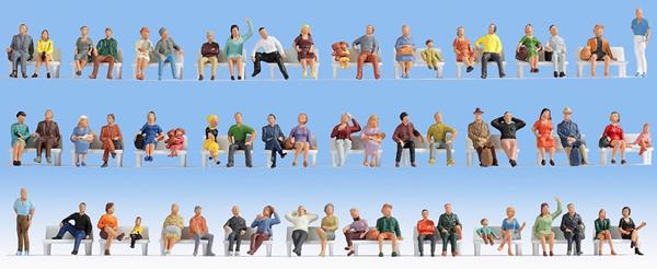 Noch 47402 - Mega Economy Set Sitting People
