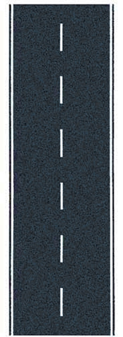Noch 48583 - Federal Road, gray, 100 x 6,6 cm