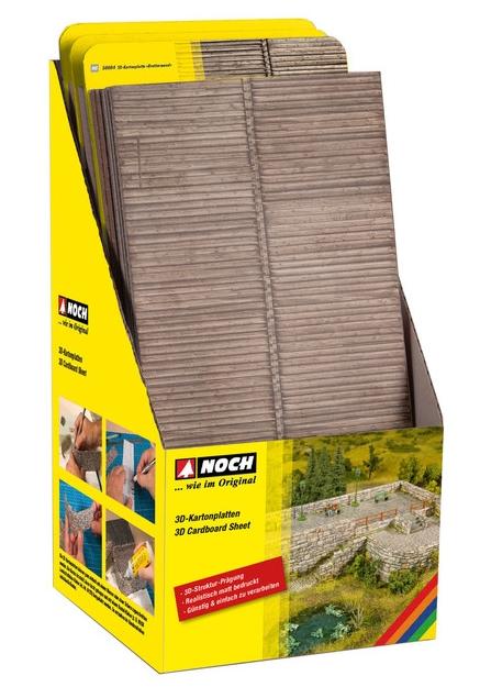 """Noch 56670 - 3D Cardboard Sheet """"Roof Tile"""""""