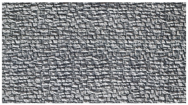 Noch 58255 - Quarrystone Wall, extra long, 65 x 12,5 cm