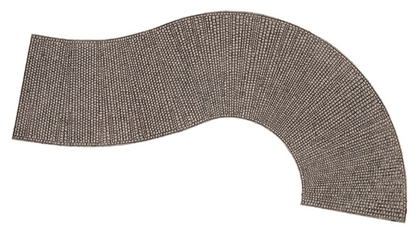 "Noch 60316 - Structured Curve ""Cobblestone"""