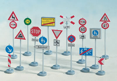 Noch 60521 - Assorted Traffic Signs