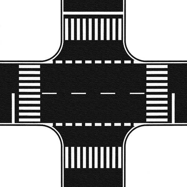 Noch 60712 - Crossing, Asphalt, 22 x 22 cm