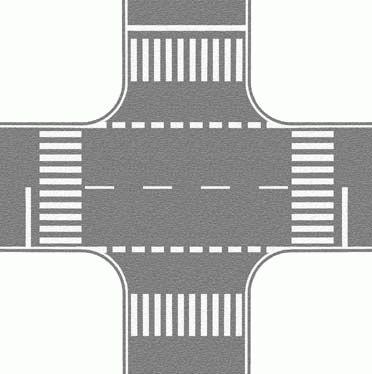 Noch 60714 - Crossing, gray, 22 x 22 cm