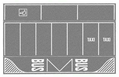 Noch 60720 - Car-Park, gray, 2 pcs., each 22 x 14 cm