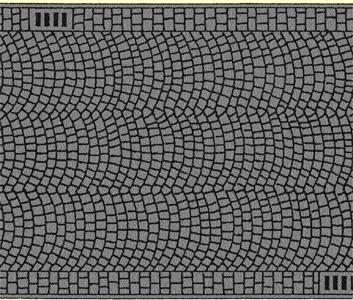 Noch 60722 - Cobbled Pavement, 100 x 6,6 cm