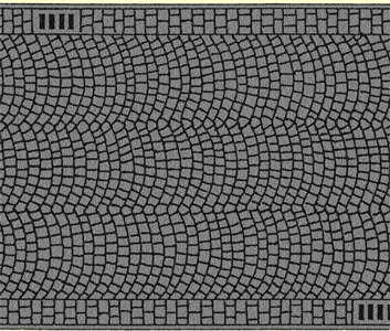 Noch 60722 - Cobbled Pavement, 100 x 6,6 cm
