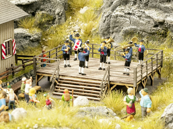 Noch 66826 - Event Stage with micro-sound Brass Band