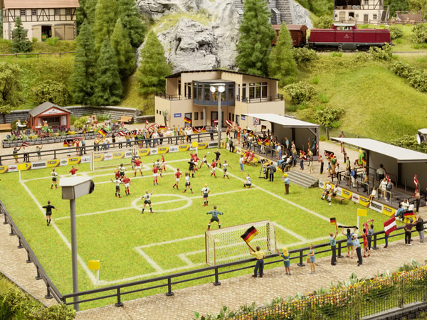 Noch 66830 - Football Pitch with Clubhouse, micro-sound Stand