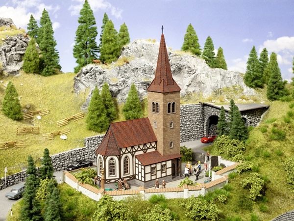 Noch 66906 - Church St. George with micro-sound Bells Ringing