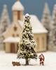 White Christmas Tree, illluminated