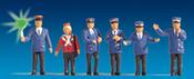 Railroad Staff, illuminated