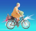 Cyclist, illuminated